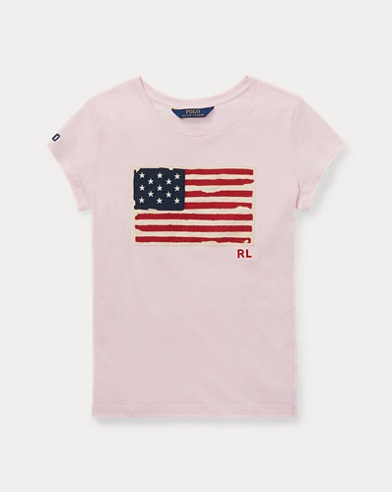 Flag Cotton Jersey T-Shirt
