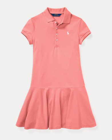 Stretch Piqué Polo Dress