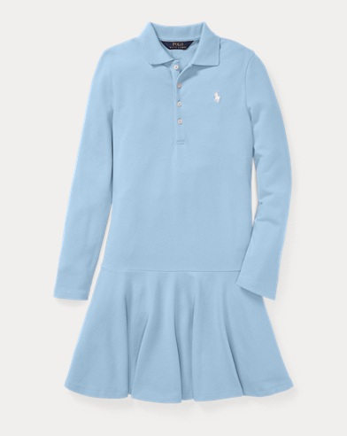 Robe polo en piqué stretch