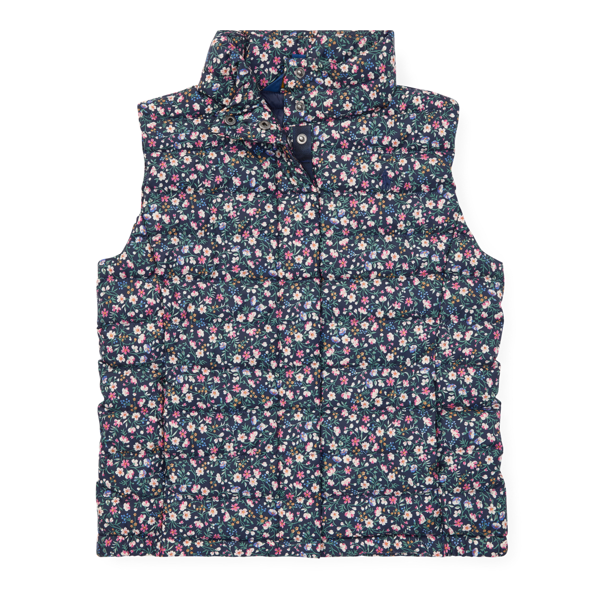 8e72bf50b9 Floral Quilted Down Vest