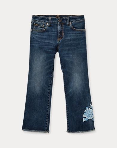 Kick-Flare Crop Jean