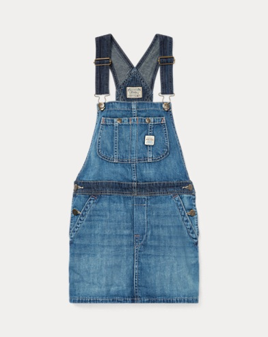 Salopette denim en coton