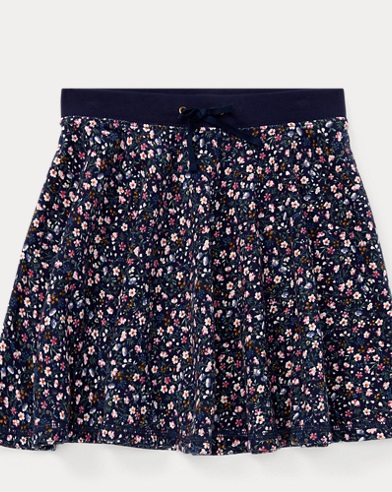 Floral French Terry Skirt
