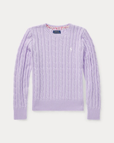 Jersey de punto trenzado de algodón