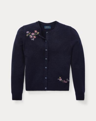 Cardigan mit Blumenstickerei
