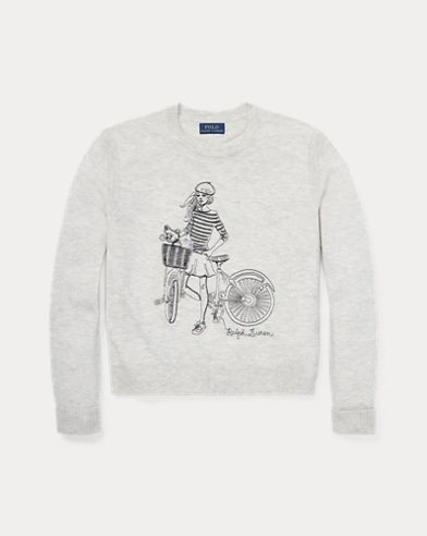Graphic Wool-Blend Jumper