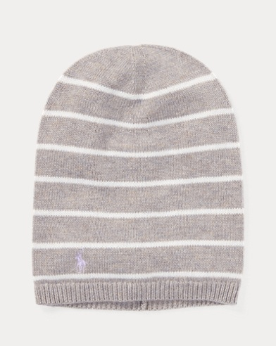 Striped Cashmere-Blend Hat