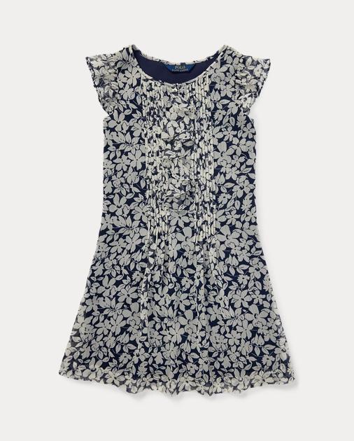 a3388b21b58b Girls 7-16 Ruffled Floral Chiffon Dress 1