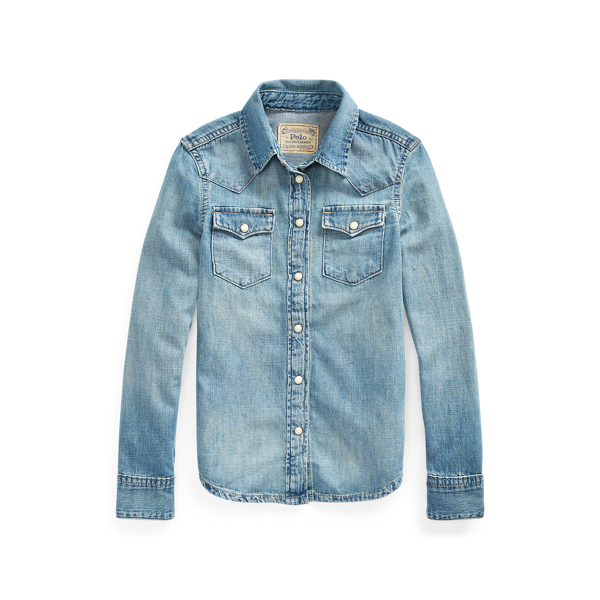Cotton Denim Western Shirt