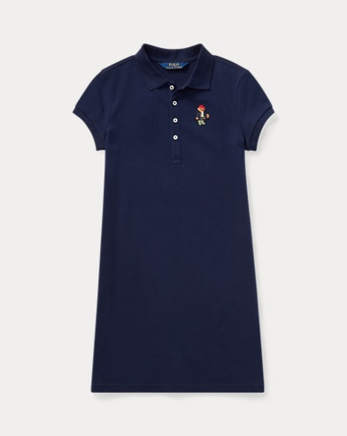 Wellie Bear Mesh Polo Dress