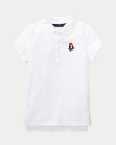 Wellie Bear Stretch Mesh Polo