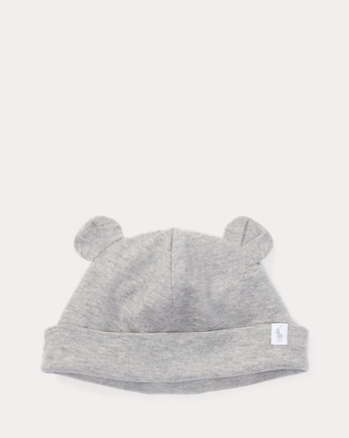 Bear-Ear Cotton Interlock Hat