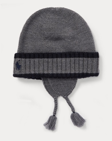 Striped Wool Earflap Hat
