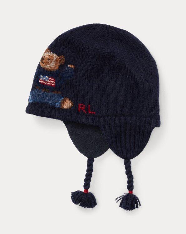 Polo Bear Mütze aus Wollmischung