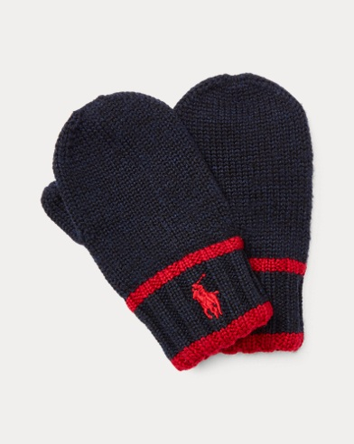 Striped Wool Mittens