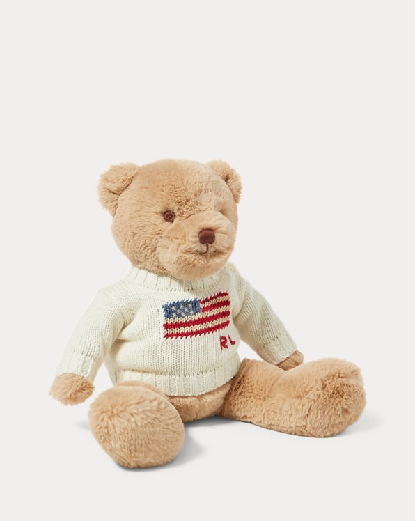 Small Flag-Sweater Polo Bear