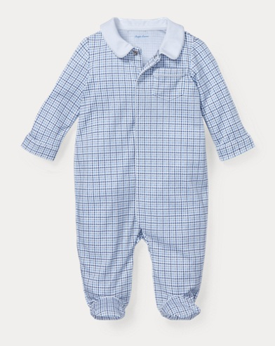 Plaid Cotton Coverall