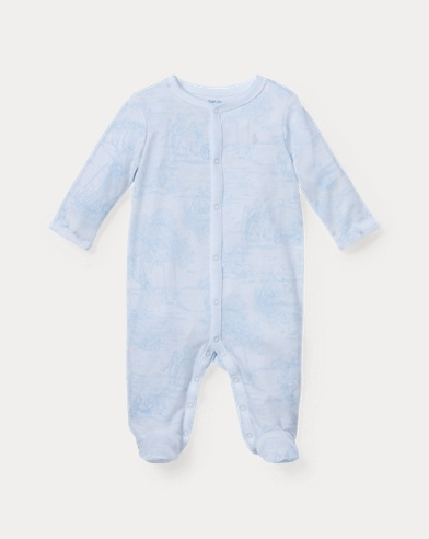 Toile-Print Cotton Coverall