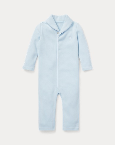 Combinaison bébé en coton côtelé