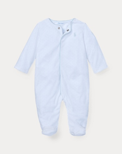 Polka-Dot Velour Coverall