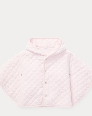 Quilted Velour Hooded Cape