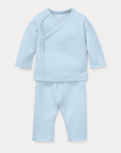 Jacquard Kimono Top & Pant Set