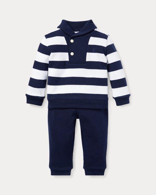 Striped Cotton Top & Pant Set