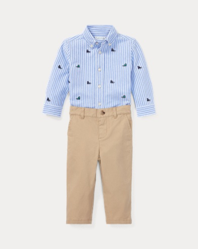 Oxford Mesh Shirt & Chino Set