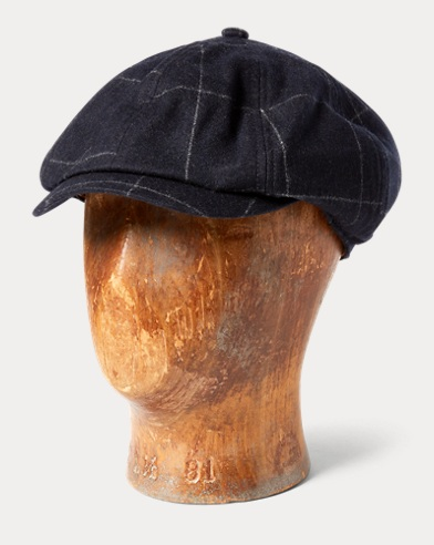 Checked Flannel Newsboy Cap