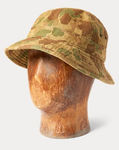 Camo Herringbone Deck Hat
