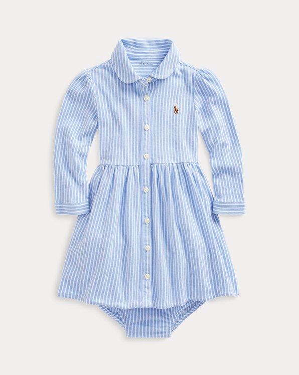 Striped Mesh Oxford Dress