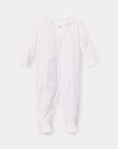 Striped Velour Coverall