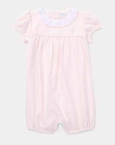 Ruffled Cotton Shortall