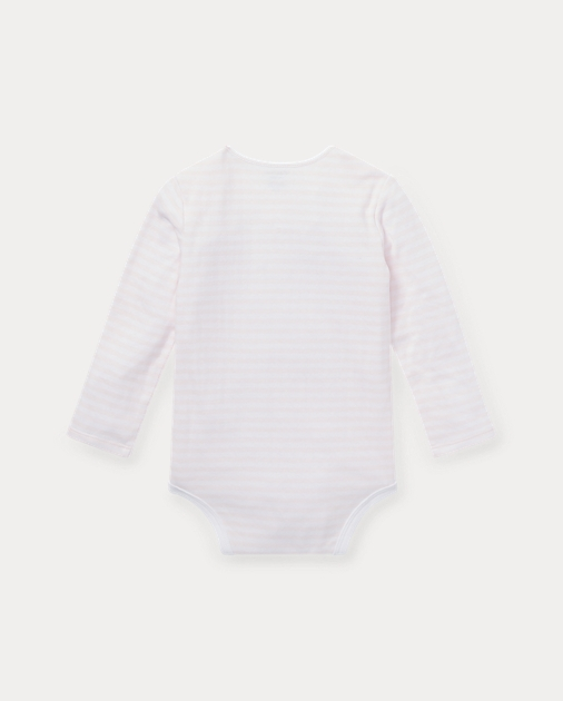 Baby Girl Striped Jacquard Bodysuit 2