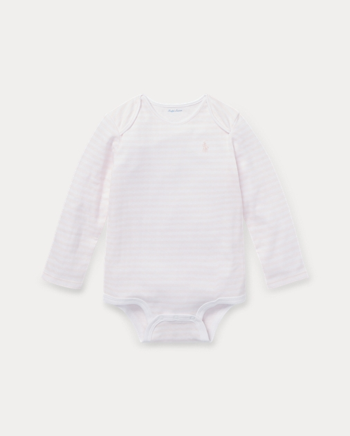 Baby Girl Striped Jacquard Bodysuit 1