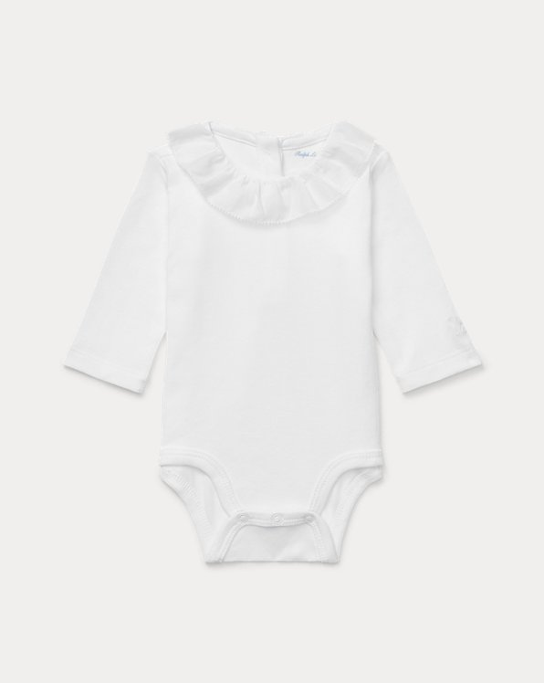 Ruffled Cotton Bodysuit