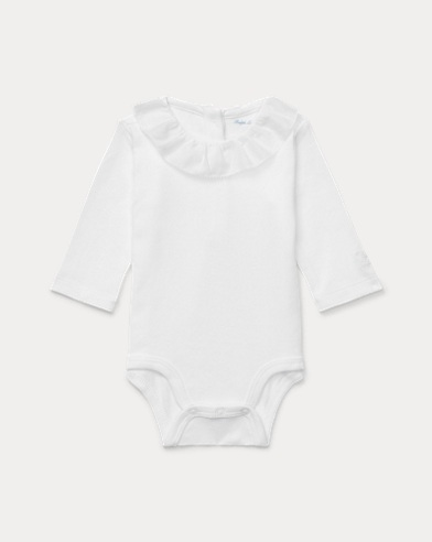 Ruffled Cotton Bodysuit