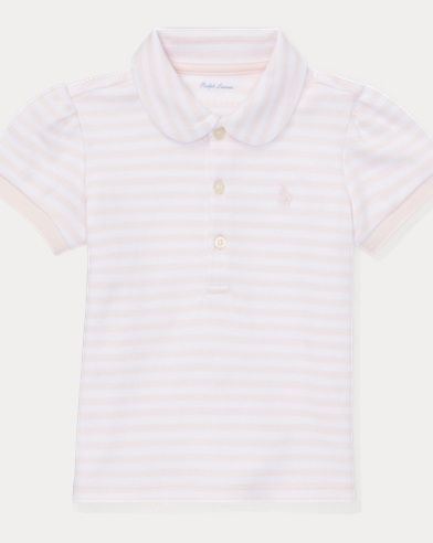 Striped Cotton Interlock Polo