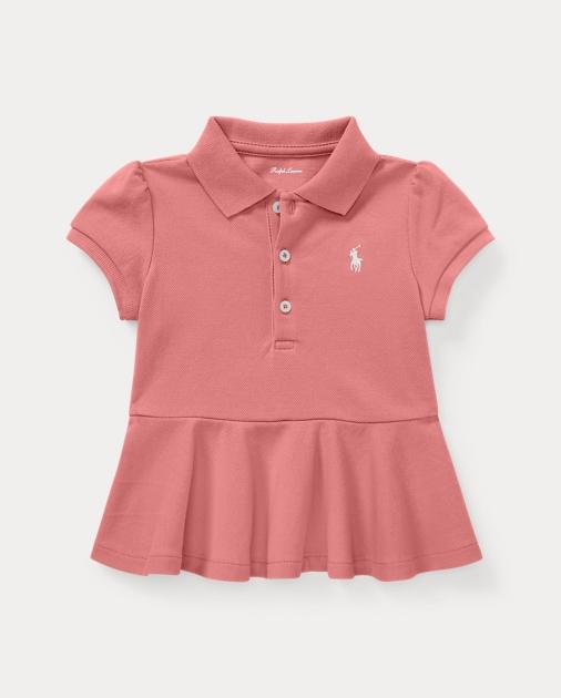 38a945b61 Cotton Pique Peplum Polo Shirt | Ralph Lauren UK