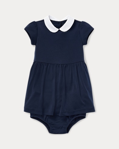 Stretch Cotton Dress & Bloomer