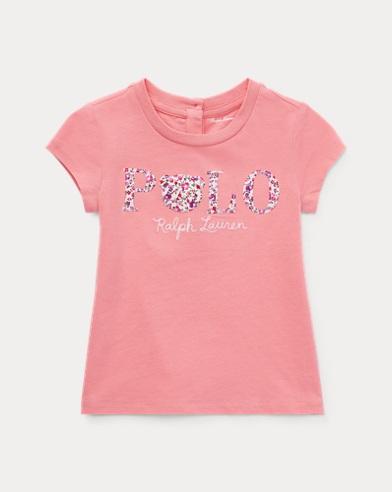 Jersey-T-Shirt mit Blumenmuster