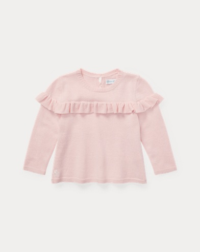 Ruffled Wool-Blend Jumper