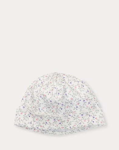 Floral Cotton Interlock Hat