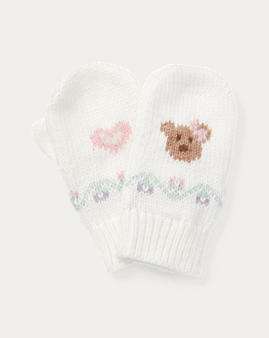 Intarsia Cotton-Wool Mittens
