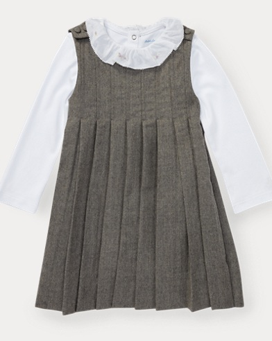 Pleated Dress & Bodysuit
