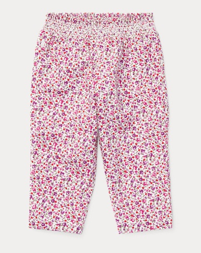 Floral Cotton Pull-On Pant