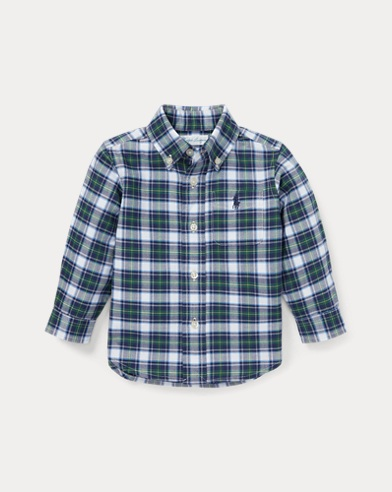Camisa Oxford a cuadros de algodón