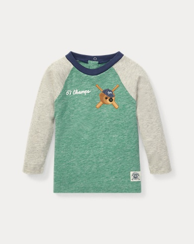 Baseball-T-Shirt mit Polo Bear
