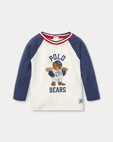 Maglietta baseball con Polo Bear