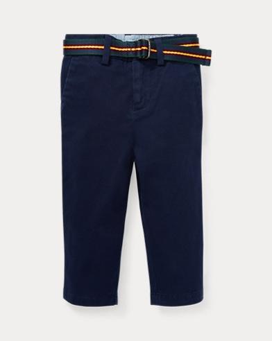 Chino in cotone stretch con cintura